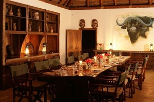 Dining at Semliki Safari Lodge