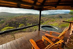 View out of Leopard Mountain Game Lodge Chalet