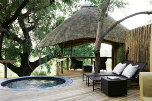 Londolozi Varty Camp Pool and balcony