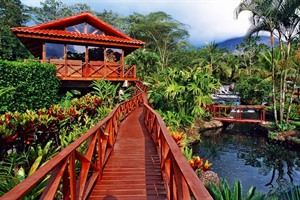 Lush gardens, Tabacon Resort