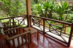 Vakona Forest Lodge - terrace