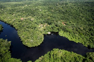 Ariel view of Cristalino Lodge