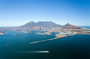 Aerial Views Of Cape Town and Table Mountain, Cape Town, South Africa