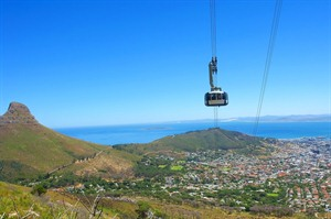 Cable Car To Table Mountain, Cape Town, South Africa