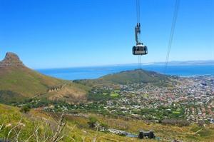 Cape Town, cable car to Table Mountain