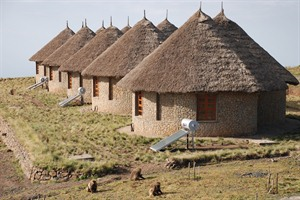 Gojos or bungalows at Simien Lodge