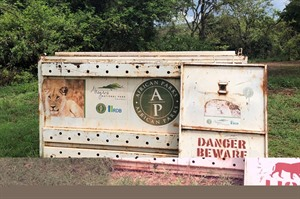 The crates used to translocate Lions to Akagera (Craig)