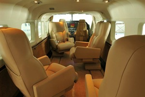 The luxury Oasis interior of the Cessna Grand Caravan