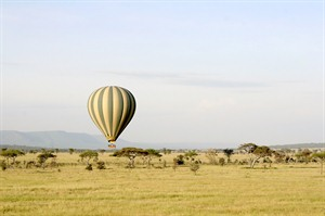 Balloon flight in the Serengeti