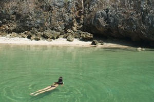 Swimming off a secluded cove at Anjajavy Le Lodge