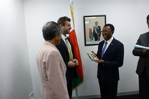 Daniel & Hilary meet Madagascar's President, London, September 2017