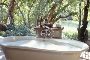 Outdoor bath At Makanyane