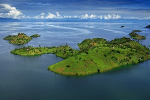 Scenic and high-lying Lake Kivu