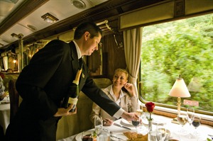 Hiram Bingham dining carriage