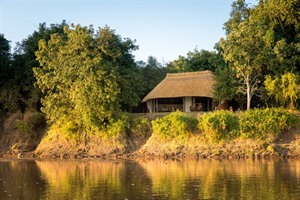 Nkwali Camp overlooking the Luangwa River