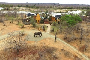 Aerial view of Azura Selous Camp