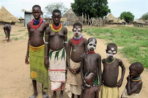 Karo people close to Omo River