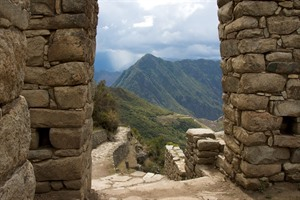 View from the Sun Gate on the short Inca Trail