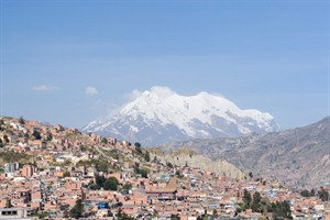Mt Illimani, the guardian of La Paz