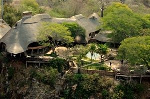 Chilo Gorge safari Lodge Aerial View