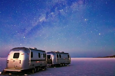 Uyuni Salt Flats by Luxury Airstream Camper